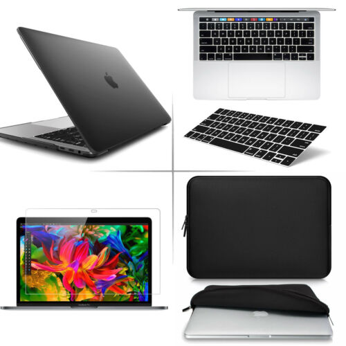 Soft Touch Plastic Hard Shell Cover 13-inch BLACK For MacBook Pro 13 Case A1989