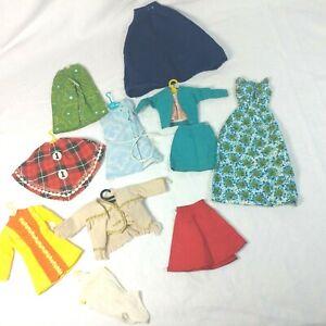 Vintage Barbie Clothes Bundle Lot 60s Mod Dress Vest Outfit Set Skirt Jacket Ebay