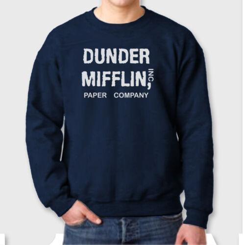 TV Show The Office T-shirt Funny Crew Neck Sweatshirt DUNDER MIFFLIN Inc