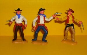 Timpo-3x-Cowboy-G2-Wildwest-Western-Figur-Gangster-Toys-11