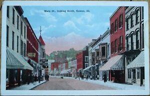 Galena-IL-1920-Postcard-Main-Street-Downtown-Illinois-Ill