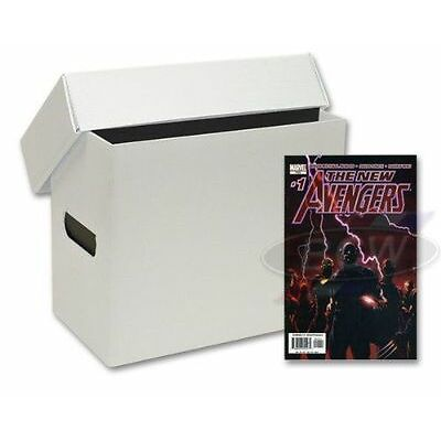 1 x short comic storage PLASTIC BOX. white finish.