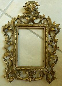 Details About Antique Victorian Brass Easel Back Picture Frame 4 X 6 653 Patd Apr 24 94