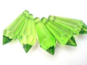 10-Spring-Green-Icicle-Chandelier-Crystals-38mm-Suncatchers-Jewelry-Supplies