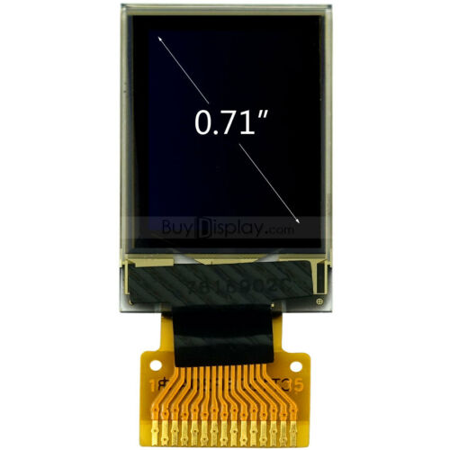 "4-Wire Serial Serial PERIPHERAL INTERFACE 0.71/"" pouces blanc 48x64 Dot graphique OLED Display Module SSD1306"