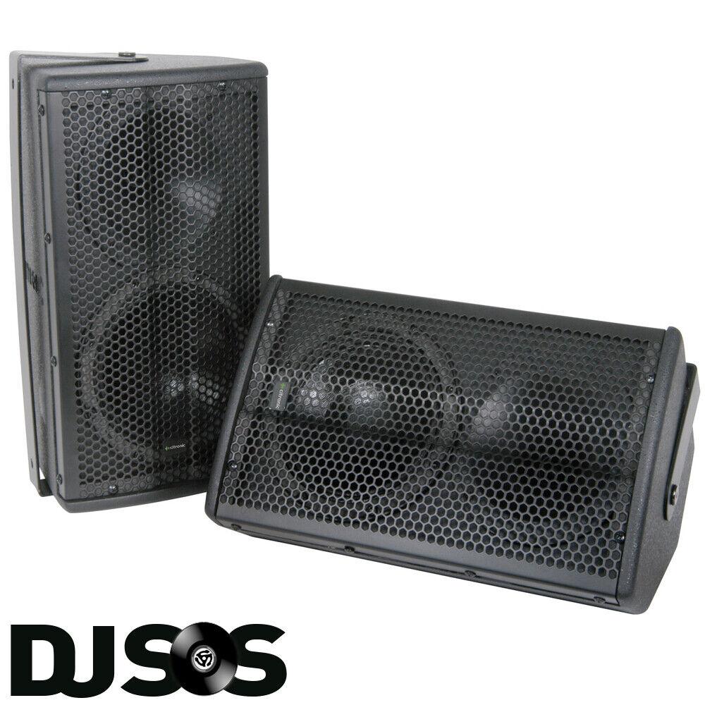 Pair Citronic Black CX-8088B PA Speakers 8