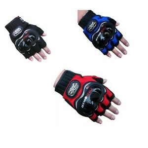 Pro biker Gloves - Bike / Motorcycle / Cycle Riding Gloves Biker Gloves HALF(L)