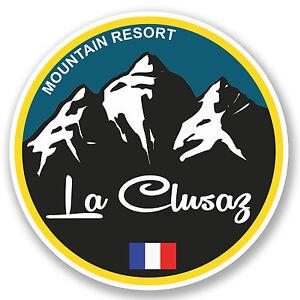 2 x 10cm Bansko Ski Snowboard Vinyl Sticker iPad Laptop Luggage Travel Fun #5125