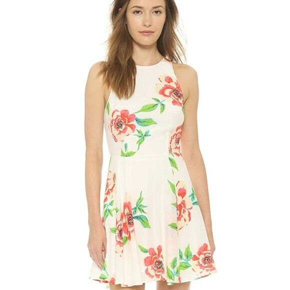 Yumi Kim Happy Hour Floral Dress in White pinkbud Size S