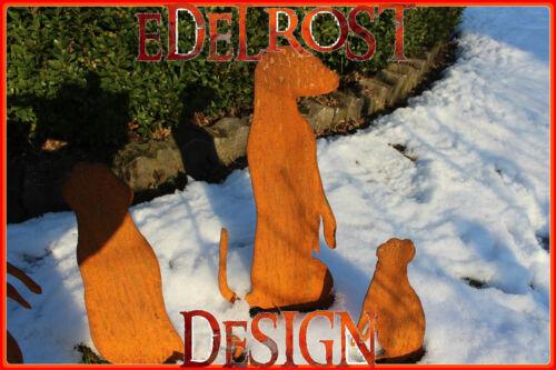 EDELROST Erdmännchen einzeln Tier Rost Gartendeko Edel Metall Eisen Deko Design