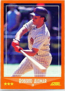 1988 Score Roberto Alomar 105t Baseball Card