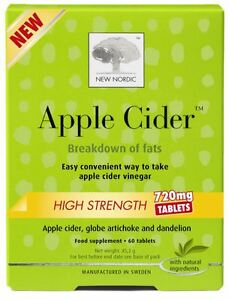 New Nordic Apple Cider High Strength 720mg - 60 Tablets | eBay