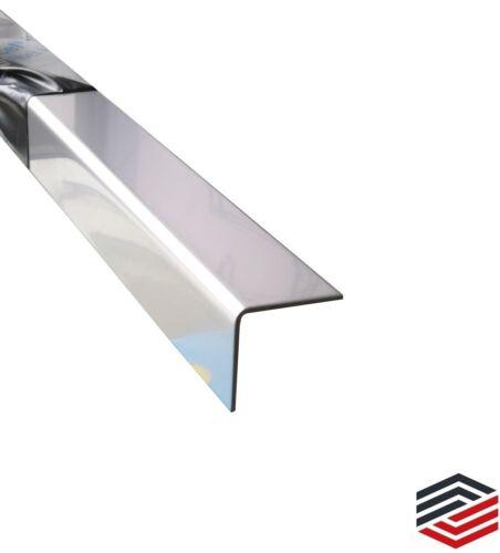 Kantenschutz  Edelstahl Blank Eckschutz 2000mm 1,0 mm L-Winkel Winkelprofil