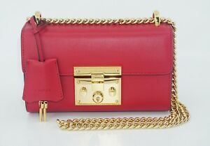 56e2099180ba4 Image is loading Gucci-Women-039-s-Padlock-Small-Smooth-Leather-