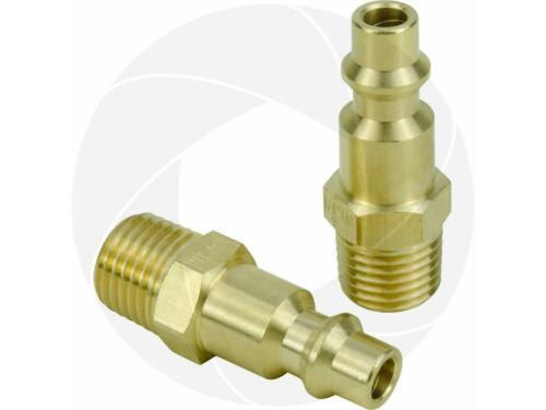 Brass Air Tool Fittings 1//4 NPT Male Milton M type Plug 727 Connector for Tools