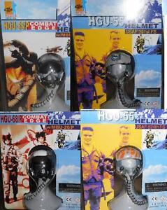 Details about 1/6 Dragon HGU-55 and HGU-68P Combat Edge US Fighter Pilot  Helmet LOT of 4 MOC