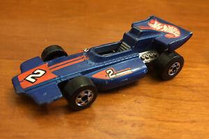 VTG 1973 Mattel Hot Wheels Blue Indy Formula #2 Diecast Toy Race Car