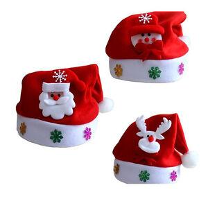 Kid-Cheer-Christmas-Hat-Child-Santa-Claus-Reindeer-Snowman-Xmas-Party-Red-Cap-CN