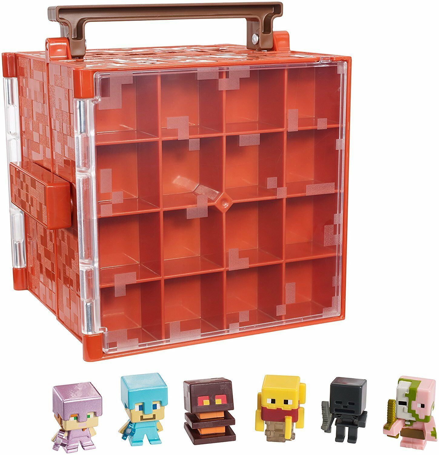 Minecraft People Mini-Figure Nether Collector Case Accessory Christmas Gift Kids