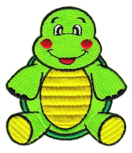 Ag74 tortuga Patch perchas imagen cómic aplicación Patch niños parchear DIY