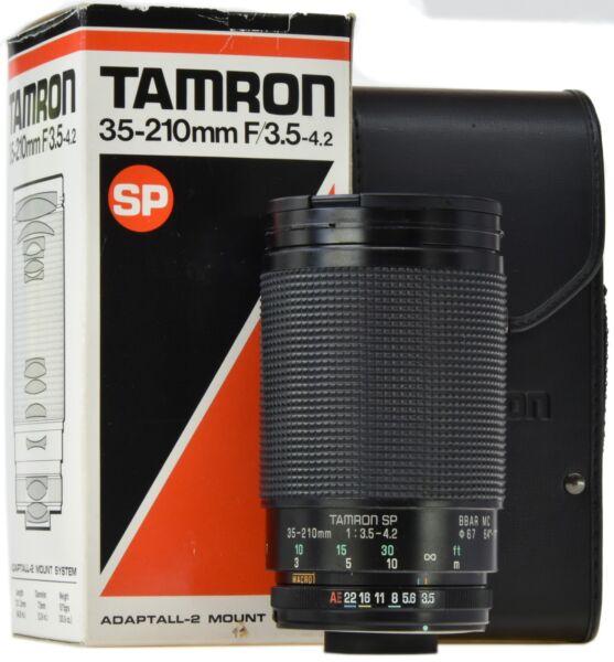 Bon CœUr Tamron Sp 35-210 Mm 3.5-4.2 Adaptall Ii (26 A) - Coffret - Jolie Et ColoréE