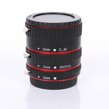 Auto Focus AF Automatic Extension Tube RED Metal For Kenko Canon EF EF-S Lens