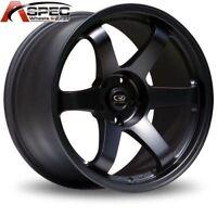 1 Rota Grid 17x9 5x114.3 +42 73.1 Flat Black Rim Wheels
