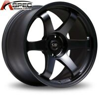 1 Rota Grid 17x9 5x114.3 +42 73.1 Flat Black Rim Wheels