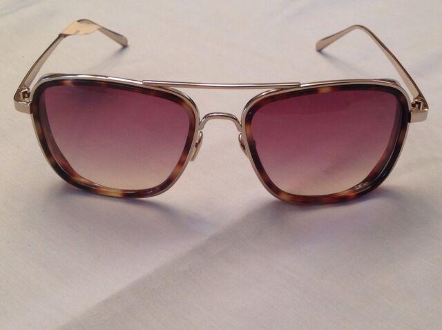 ccb728ae51b Linda Farrow Luxe Blinkers Lfl237 3 Tortoise gold Brown Aviator Ironman  Sunglass for sale online
