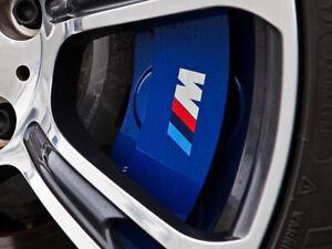 BMW-M-SPORT-etrier-De-Frein-Autocollant-Decalcomanie-Logo-F10-F20-F30-E60-E70-E71-E90-E91