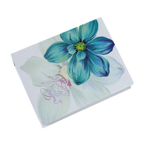 Flowers Design 6 inch Photos Album Holder Organizer Travel Family Memories Jian