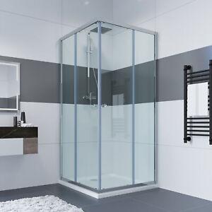 Duschkabine Eckeinstieg Schiebetür Duschabtrennung Duschwand ohne Duschtasse