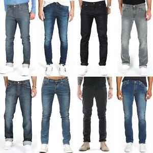 B-Ware-Nudie-Herren-Stretch-Jeans-Hose-Slim-Fit-Skinny-Fit-Roehrenjeans