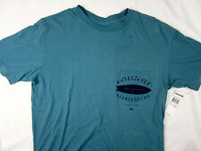 Quiksilver Surf board Modern fit soft pocket T-shirt men's blue size MEDIUM