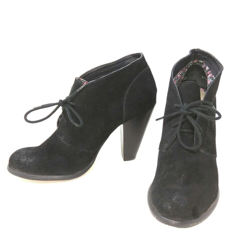 Seychelles en daim noir cuir talon haut chaussures bottes sz 10 US 4 in (environ 10.16 cm) Talon L2A