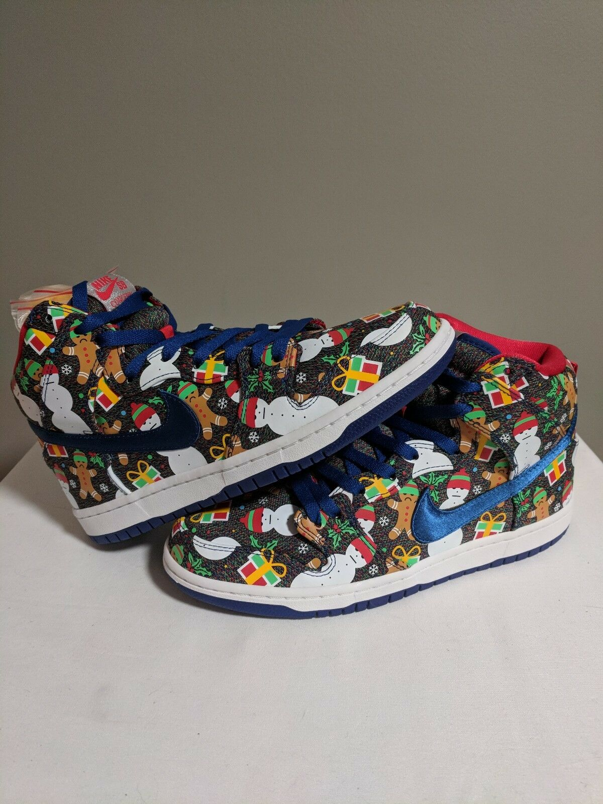 Nike SB Dunk High TRD QS Ugly Christmas Sweater concepts lobster bluee Size 8.5