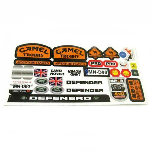 1 Set  of Defender Logo Stickers for WPL B14 B24 B16 C14 /& MN-D90 RC Car Crawler