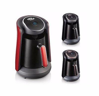 Arzum OKKA Minio Automatic Turkish Coffee Machine Maker Red Copper Chrome + Gift