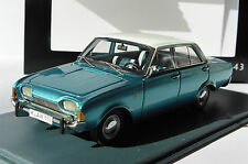 FORD TAUNUS 17M P3 4 DOORS METAL BLUE 1960 NEO 44555 1/43 WHITE ROOF LHD BLEU