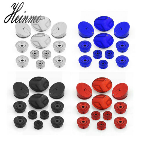 Motorcycle CNC Frame Hole Cover Caps Plug Set For R1200GS LC Adventure 2013-2019