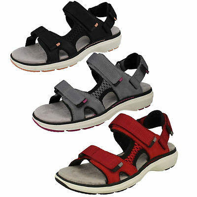 LADIES CLARKS UNSTRUCTURED UN ROAM STEP LEATHER CASUAL SPORTS SANDALS SIZE