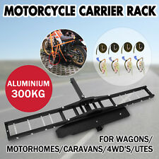 300kg Motorcycle Carrier Hauler Hitch Mount Rack motorbike Anti Tilt Tow Bar