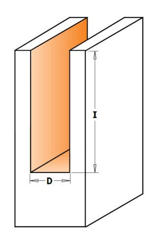 HM//HW Nutfräser für Handoberfräsen D=12 mm Schaft= 8 mm GL 60 mm CMT für Holz