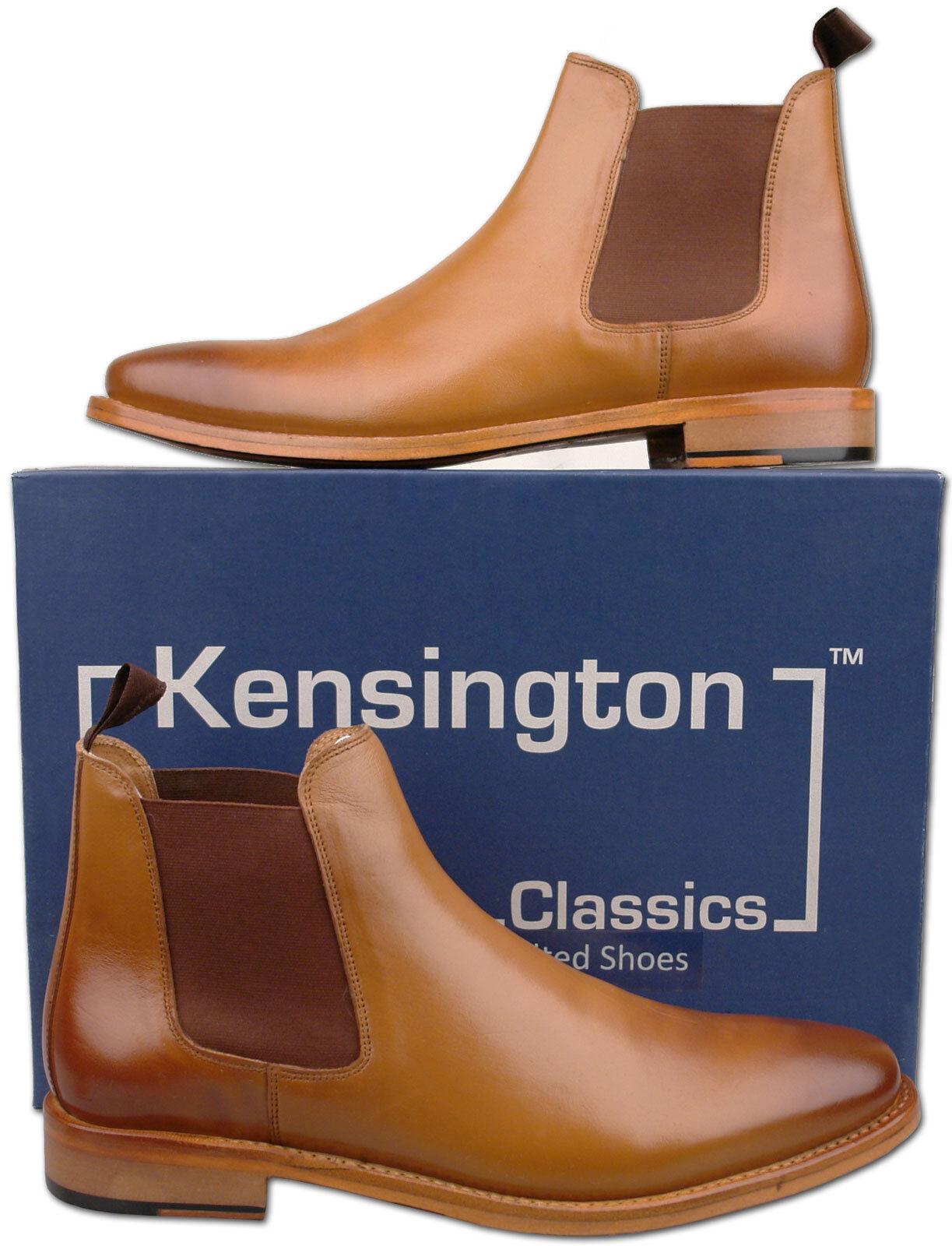 Herren New Tan Tan Tan Full Leder Chelsea Fashion Ankle Stiefel Größe 7 8 9 10 11 12 1524b7