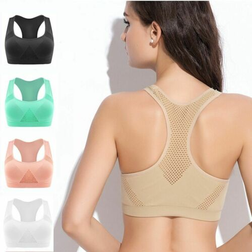 Women Sports Bra Dry Quick Push Up Yoga Running Fitness Gym Tank Tops Accessory