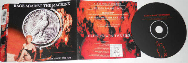 RAGE AGAINST THE MACHINE - SLEEP NOW IN THE FIRE (2000 Sony) - CD Single..
