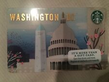 WASHINGTON, DC STARBUCKS Card ** Cherry Blossoms Monument Capitol NEW