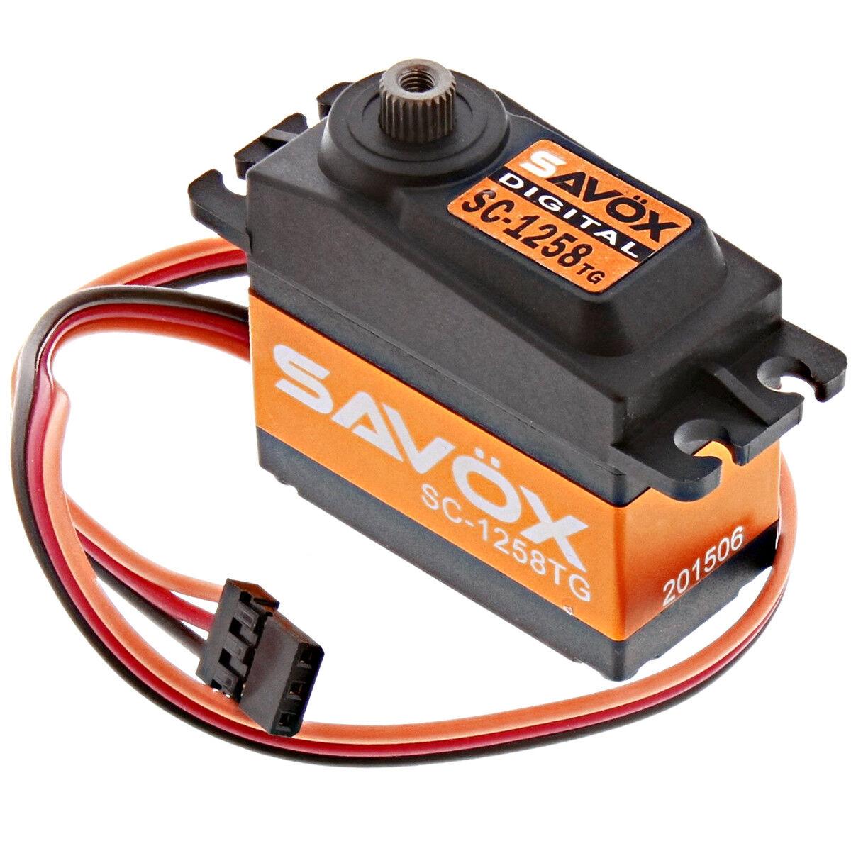 Savox SC-1258TG - Super Speed Titanium Gear 6.0V Digital Servo .08 166 - SAVSC12
