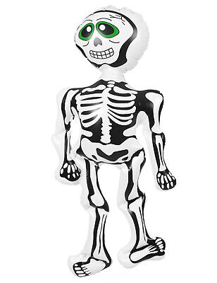 Inflatable Blow Up 73CM Skeleton Halloween Pirate Spooky Horror Fancy Dress Acce