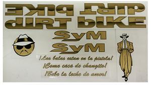 S/&M Og  Sticker Decal Set Dirtbike Lowrider Retro Bmx Old School Low RIDER
